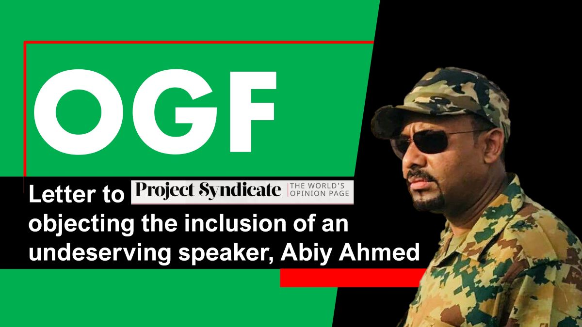 Abiy Ahmed an undeserving speaker at The Green Recovery virtual event, 16-17 September 2020