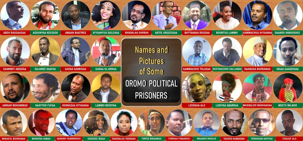Names and Pictures of some Oromo Political Prisoners